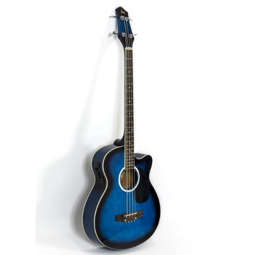 Blue Electric Acoustic Bass Guitar w/ Equalizer