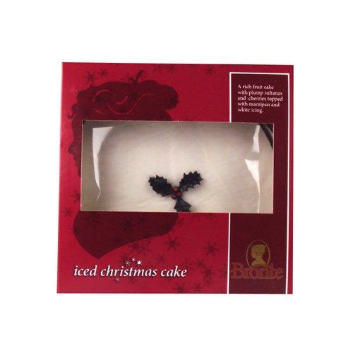 Bronte Top Iced Round Christmas Cake - 681g