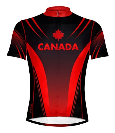 Primal Canada Men's Cycling Jersey - Red / Black