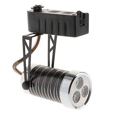 3W 300-330Lm 6000-6500K Natural White Light Black Shell Led Orbit Lamp (85-265V)