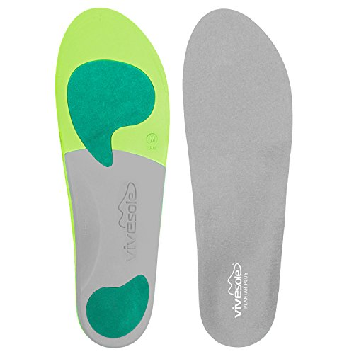 Orthotics by ViveSole - Plantar Plus - Best Plantar Fasciitis Shoe Inserts for Maximum Comfort & Pain Relief from Flat Feet & Back Pain - Insoles Provide Arch & Heel Support - Vive Guarantee (Medium)