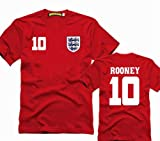 The Brazilian World Cup England National Team No.10 Wayne Rooney T shirt asian adult size