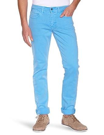 Japan Rags - Pantalon - Slim - Homme - Bleu (0238 Sky) - W27/L32
