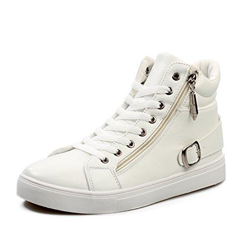 Semplice moda con alta estate scarpe/Scarpe comode antiscivolo/Sport scarpe uomo traspirante-bianco Lunghezza piede=26.3CM(10.4Inch)