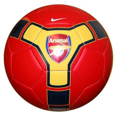 OFFICIAL ARSENAL FC RED YELLOW BLACK NIKE 32 PANEL FOOTBALL