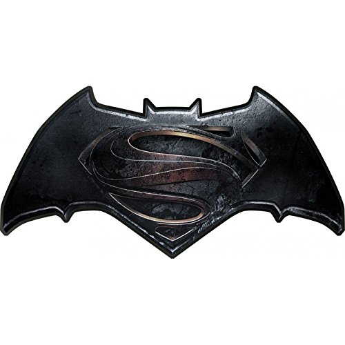 "'Batman vs. Superman 0122084 cuscino ""logo, 100% poliestere, nero, 50 x 23 x 5 cm"