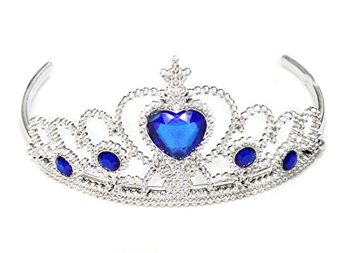 Fairy Princess Royal Blue Tiara Crown Headband Accessories for Kids Costume Part