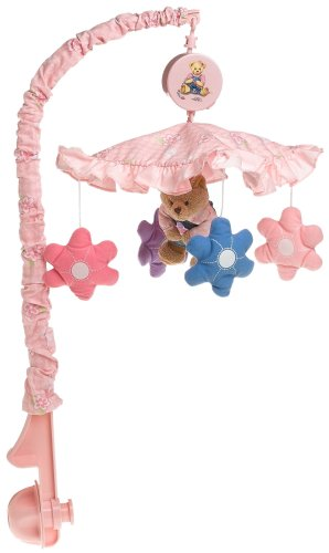 Springmaid Baby Blossom Bear Nursery Musical Mobile (Discontinued by Manufacturer)