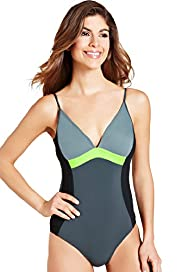 Tummy Control Ruched Sporty Swimsuit