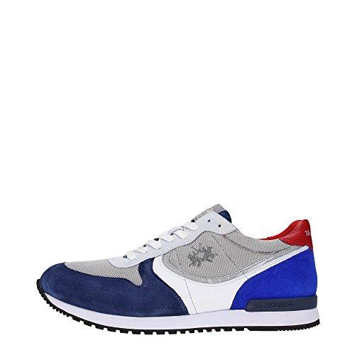 La Martina Shoes L1080204 Sneakers Uomo Tessuto Camoscio Indaco Camoscio Indaco 40
