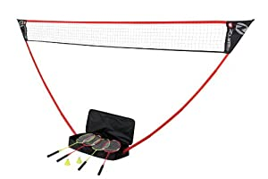 ZUME GAMES 4 Player Badminton Set