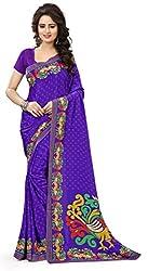 Design Willa Smooth feel Art crepe Sari (DWPC030,Purple)