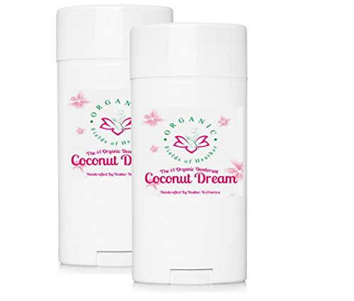 Organic & Natural Deodorant That Naturally Detoxes - (2-Pack) Coconut Dream Scent - W/Organic Non-GMO Ingredients - For Women - Men - Kids - NO: Sulfates, Pthalates, Parabens, Aluminum, Or Dyes
