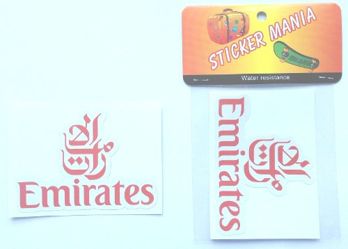 Emirates Airlines logo sticker red waterproof paper seal (japan import) - 1