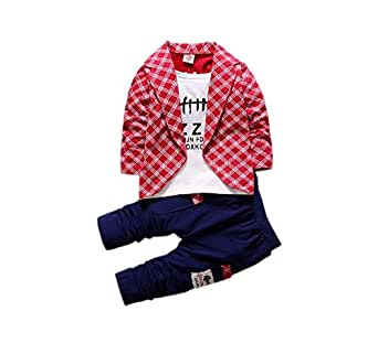 Funky Boys Blazer Set-Red Amazon.in Clothing U0026 Accessories