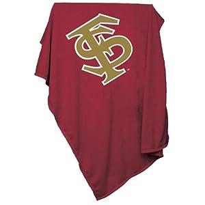 Florida State Seminoles NCAA Sweatshirt Blanket Throw by Logo Chair
