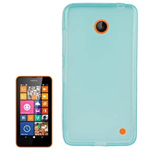 Translucent Frosted TPU Protective Case for Nokia Lumia 630 (Baby Blue)