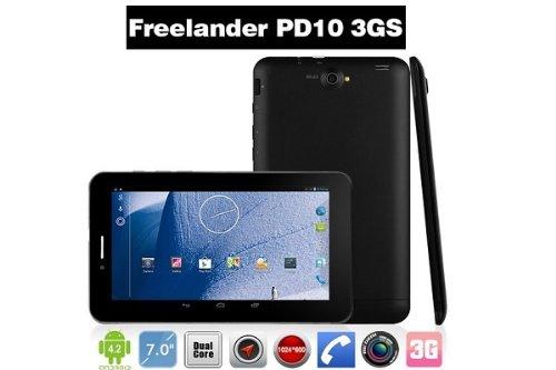 simフリー タブレット PD10 3GS 7インチ Android4.2 タブレット PC アンドロイドタブレット GPS Bluetooth OCNモバイルONE 対応 初期化しても日本語表示とルート付きの仕様 並行輸入品 (ブラック「景品なし」)