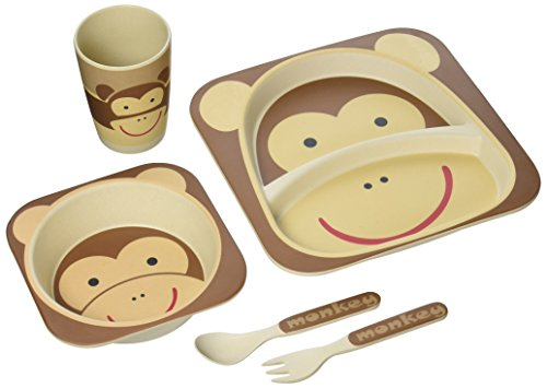 nandog-pet-gear-kbs-1003-brm-monkey-bamboo-fiber-kids-plate-set-by-nandog-pet-gear