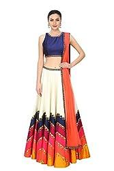Fabron Multi Colored Designer Embroidred Lehenga For Woman