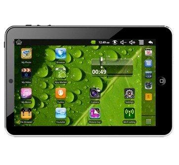 Android アンドロイド タブレット OS:2.3 ファームウェア 2.3 CPU:VIA 公式アンドロイドマーケット可 フロントカメラ搭載 有線LAN変換付