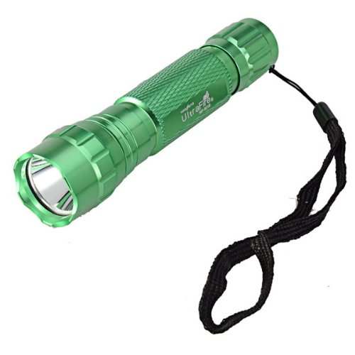 Ultrafire Wf-501B Cree Xm-L T6 5-Mode 1000Lm Memory White Light Led Flashlight Torch With Hand Strap - Green Color