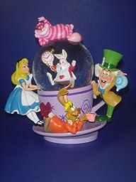 Walt Disney World Exclusive Alice in Wonderland Teacup Cheshire Snowglobe