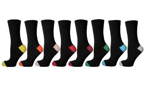 6 Pairs Trendy Men, Heels & Toes Coloured Socks