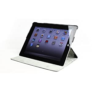 MiniSuit Leather Case Microfiber Cover for The New iPad - Side