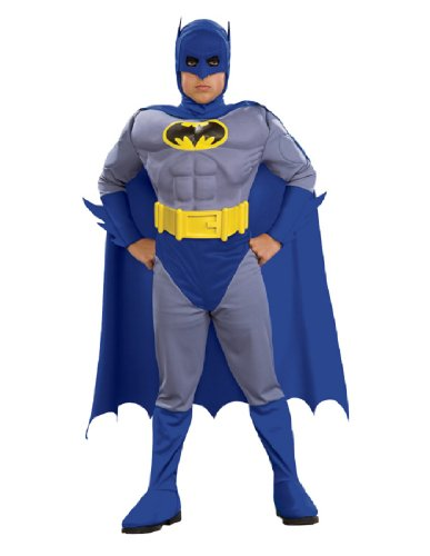 Deluxe Boy's The Brave and The Bold Batman Muscle Chest Costume TODD