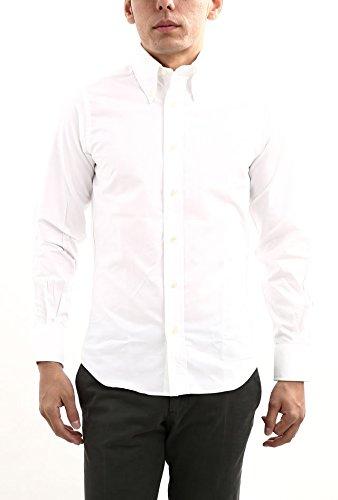 INDIVIDUALIZED SHIRTS (インディビジュアライズドシャツ) SLIM FIT CAMBRIDGE OXFORD ボタンダウン オックスフォードシャツ WHITE (ホワイト) MADE IN USA (アメリカ製)