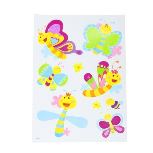 Amico Colorful Self Adhesive Cartoon Bee Sticker Set Wall Decor