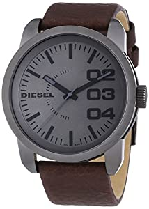 diesel dz1467 montre homme quartz analogique bracelet cuir marron montres. Black Bedroom Furniture Sets. Home Design Ideas