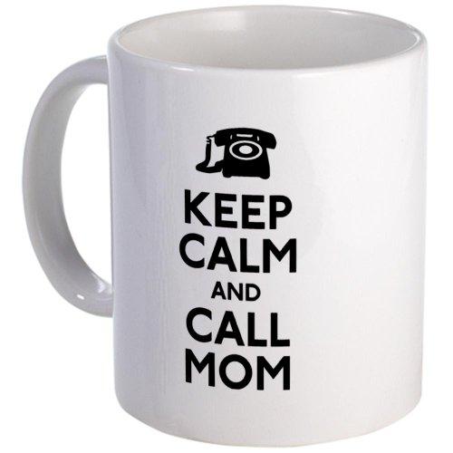 Cafepress Keep Calm And Call Mom Mug - Standard Multi-Color
