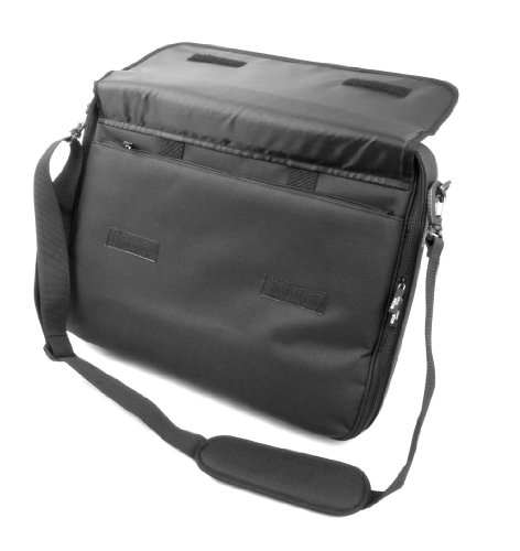 Duragadget Black Water Resistant Laptop Briefcase For Lenovo Thinkpad L412 & Thinkpad X1, With Detachable Shoulder Strap & Multiple Compartments
