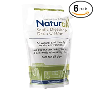 Naturall Septic Digester & Drain Cleaner, 16 ounces Pouch (Pack of 6)