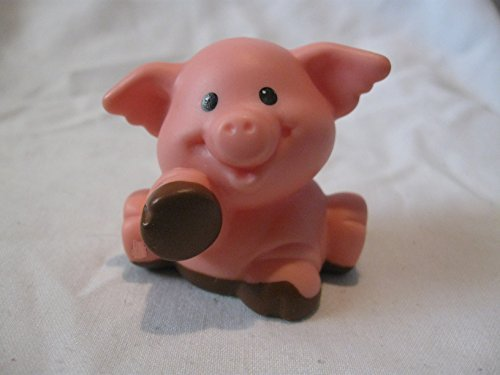 Fisher Price Little People Animal Sounds Farm Barn Zoo Castle Replacement DARK Brown Pink Muddy Paws Pig No Splatter Spots OOP 2001 - 1