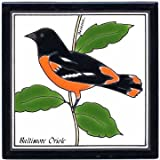 ORIOLE TILE, ORIOLE WALL PLAQUE, ORIOLE TRIVET by Besheer Art Tile, Bedford, New Hampshire, U.S.A.