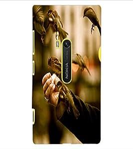 ColourCraft Sparrow Birds Design Back Case Cover for NOKIA LUMIA 920