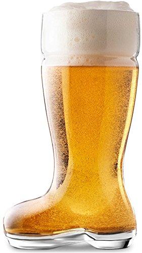 Circleware Das Boot Set of 2 ★HUGE★ 1 Liter Glass Beer Mugs/glasses Oktober Fest Style, Limited Edition Glassware Serveware Drinkware Barware