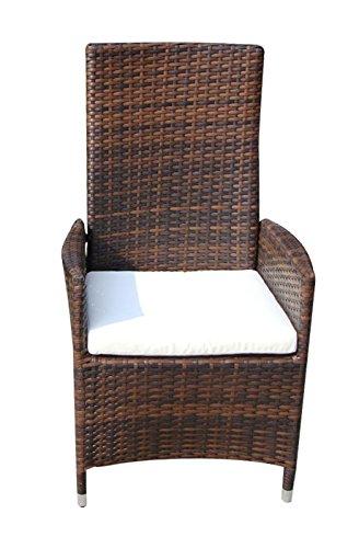 Baidani Designer Stuhl Sentado, braun meliert