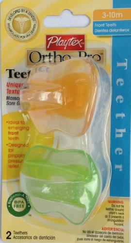 Playtex Baby Ortho-Pro Teether 3-10M: Orange-Green - 1