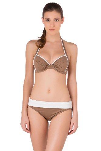 Tommy Bahama Women'S Underwire Halter Bra Bikini Top Beach Taupe 34Dd