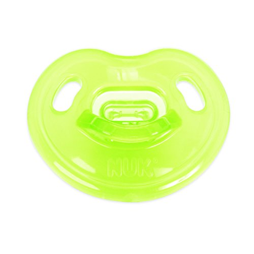 NUK Newborn 100% Silicone Orthodontic Pacifier in Assorted Colors, 0-3 Months