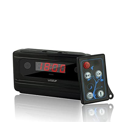 Wiseup™ 720P HD Hidden Camera Alarm Clock Video Recorder Motion Activated Security DVR 140°View by Da Wu Technology