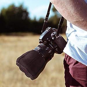 Prova Tech Camera Lens Cap, Shock-Absorbent Universal Lens Cover Fit for 70-115mm Diameter DSLR Lens (Single Lens Cap) (Color: Black, Tamaño: Single Lens Cap)