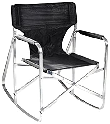 Ming's Mark SL1205-BLACK Black Full Back Folding Rocking Director's Chair