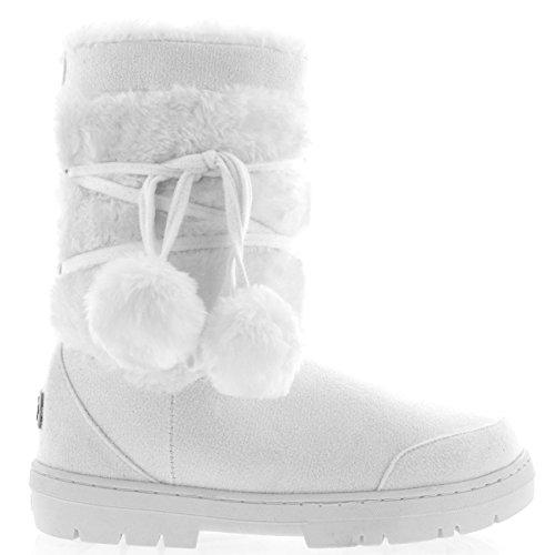 Womens Pom Pom Fully Fur Lined Waterproof Winter Snow Boots - - Import It  All a5b7fff44