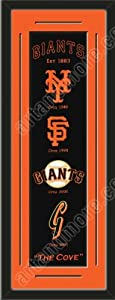 Heritage Banner Of San Francisco Giants With Team Color Double Matting-Framed Awesome... by Art and More, Davenport, IA