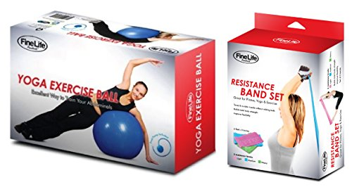 [Best Crossfit Workout Exercise Gift Set Resistance Bands & Yoga Balance Ball for Mom Sister Girlfriend] (Last Minute Costume Ideas College)
